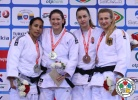 Kathrin Unterwurzacher (AUT), Rizlen Zouak (MAR), Szabina Gercsák (HUN), Martyna Trajdos (GER) - Grand Prix Samsun (2014, TUR) - © IJF Media Team, International Judo Federation