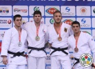 Cyrille Maret (FRA), Adlan Bisultanov (RUS), Karl-Richard Frey (GER), Javad Mahjoub (IRI) - Grand Prix Samsun (2014, TUR) - © IJF Media Team, International Judo Federation