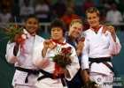 Masae Ueno (JPN), Anaisis Hernandez (CUB), Ronda Rousey (USA), Edith Bosch (NED) - Olympic Games Beijing (2008, CHN) - © IJF Media Team, IJF
