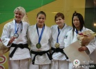 Hedvig Karakas (HUN), Juul Franssen (NED), Tina Trstenjak (SLO), Aiko Uryu (JPN) - World Championships Juniors Paris (2009, FRA) - © IJF Media Team, International Judo Federation
