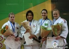 Akari Ogata (JPN), Kayla Harrison (USA), Mayra Aguiar (BRA), Luise Malzahn (GER) - World U20 Championships Paris (2009, FRA) - © IJF Media Team, International Judo Federation