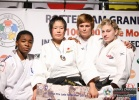 Akari Ogata (JPN), Audrey Tcheumeo (FRA), Kayla Harrison (USA), Cathérine Jacques (BEL) - Grand Prix Rotterdam (2010, NED) - © IJF Media Team, International Judo Federation