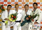 Henk Grol (NED), Ramziddin Sayidov (UZB), Daniel Brata (ROU), Ariel Zeevi (ISR) - Grand Prix Baku (2011, AZE) - © IJF Media Team, International Judo Federation