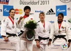 Iljana Marzok (GER), Fei Chen (CHN), Yuri Alvear (COL), Juliane Robra (SUI) - Grand Prix Düsseldorf (2011, GER) - © IJF Media Team, International Judo Federation
