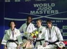 Gévrise Emane (FRA), Yoshie Ueno (JPN), Yarden Gerbi (ISR), Claudia Malzahn (GER) - IJF World Masters Baku (2011, AZE) - © IJF Media Team, International Judo Federation