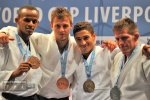 Mikos Salminen (NED), Ashley McKenzie (GBR), Matjaz Trbovc (SLO), Eisa Majrashi (KSA) - World Cup Liverpool (2011, GBR) - © IJF Media Team, International Judo Federation