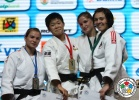 Anzu Yamamoto (JPN), Sanne Verhagen (NED), Fabienne Kocher (SUI), Tina Zeltner (AUT) - World Championships Juniors Cape Town (2011, RSA) - © IJF Media Team, International Judo Federation