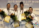 Andreea Chitu (ROU), Andreea Catuna Ionas (ROU), Larisa Florian (AZE), Monica Ungureanu (ROU) - World Cup Bucharest (2012, ROU) - © IJF Gabriela Sabau, International Judo Federation