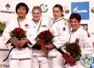 Kayla Harrison (USA), Xiuli Yang (CHN), Marhinde Verkerk (NED), Heide Wollert (GER) - Grand Prix Düsseldorf (2012, GER) - © IJF Media Team, International Judo Federation