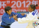 Yingnan Ma (CHN), Erika Miranda (BRA) - Grand Prix Qingdao (2012, CHN) - © IJF Media Team, International Judo Federation