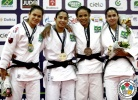 Katherine Campos (BRA), Mariana Barros (BRA), Manoella Costa (BRA), Dione Barbosa De Lima (BRA) - IJF Grand Slam Rio de Janeiro (2012, BRA) - © IJF Media Team, International Judo Federation