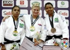 Kayla Harrison (USA), Samanta Soares (BRA), Talita Morais (BRA) - IJF Grand Slam Rio de Janeiro (2012, BRA) - © IJF Media Team, International Judo Federation