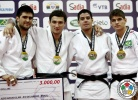 Varlam Liparteliani (GEO), Hector Campos (ARG), Thomas Briceno (CHI), Eduardo Bettoni (BRA) - IJF Grand Slam Rio de Janeiro (2012, BRA) - © IJF Media Team, International Judo Federation