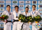 Rishod Sobirov (UZB), Won Jin Kim (KOR), Jin-Min Jang (KOR), Amiran Papinashvili (GEO) - Grand Slam Paris (2012, FRA) - © IJF Media Team, International Judo Federation