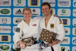 Ole Bischof (GER), Kayla Harrison (USA) - Grand Slam Paris (2012, FRA) - © Christian Fidler