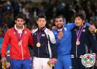Asley Gonzalez (CUB), Dae-Nam Song (KOR), Ilias Iliadis (GRE), Masashi Nishiyama (JPN) - Olympic Games London (2012, GBR) - © IJF Media Team, IJF