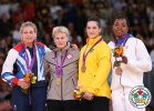 Kayla Harrison (USA), Gemma Gibbons (GBR), Mayra Aguiar (BRA), Audrey Tcheumeo (FRA) - Olympic Games London (2012, GBR) - © IJF Media Team, International Judo Federation