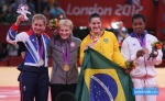 Kayla Harrison (USA), Gemma Gibbons (GBR), Mayra Aguiar (BRA), Audrey Tcheumeo (FRA) - Olympic Games London (2012, GBR) - © Mario Krvavac