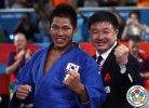 Jae-Bum Kim (KOR),  MODESTY (IJF), Hoon-Yong Chung (KOR) - Olympic Games London (2012, GBR) - © IJF Media Team, International Judo Federation
