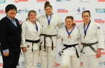 Jodie Myers (GBR), Alex Reeves (GBR), Lucy Chamberlain (GBR), Kirsty Rodgers (GBR) - British Championships Sheffield (2013, GBR) - © Mike Varey - Elitepix, British Judo Association