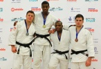 Philip Awiti-Alcaraz (GBR), Benjamin Fletcher (IRL), Jack Kelly (GBR), Theo Spalding-McIntosh (GBR) - British Championships Sheffield (2013, GBR) - © Mike Varey - Elitepix, British Judo Association