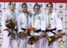 Nadia Merli (BRA), Lior Wildikan (ISR), Luiza Gainutdinova (UKR), Barbara Timo (POR) - Grand Prix Almaty (2013, KAZ) - © IJF Media Team, International Judo Federation