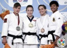 Marti Malloy (USA), Hedvig Karakas (HUN), Jovana Rogic (SRB), Miryam Roper (PAN) - Grand Prix Miami (2013, USA) - © IJF Media Team, International Judo Federation