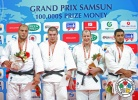 Magomed Nazhmudinov (RUS), Faicel Jaballah (TUN), Christopher Sherrington (GBR), Islam El Shehaby (EGY) - Grand Prix Samsun (2013, TUR) - © IJF Media Team, International Judo Federation