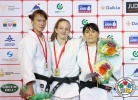 Shira Rishony (ISR), Alexandra Podryadova (KAZ), Nodira Gulova (UZB) - Grand Prix Tashkent (2013, UZB) - © IJF Media Team, International Judo Federation