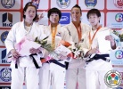 Seong-Yeon Kim (KOR), Naranjargal Tsend-Ayush (MGL), Yoko Ono (JPN), Juliane Robra (SUI) - Grand Prix Ulaanbaatar (2013, MGL) - © IJF Media Team, International Judo Federation