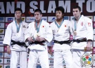 Mashu Baker (JPN), Kyu-Won Lee (KOR), Varlam Liparteliani (GEO), Daiki Nishiyama (JPN) - Grand Slam Tokyo (2013, JPN) - © IJF Media Team, International Judo Federation