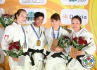 Miryam Roper (PAN), Joliane Melancon (CAN), Sumiya Dorjsuren (MGL), Kifayat Gasimova (AZE) - IJF Grand Slam Baku (2013, AZE) - © IJF Media Team, International Judo Federation