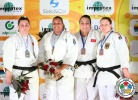Maria Suelen Altheman (BRA), Belkis Zehra Kaya (TUR), Gulsah Kocaturk Ozen (TUR), Carolin Weiss (GER) - IJF Grand Slam Baku (2013, AZE) - © IJF Media Team, International Judo Federation