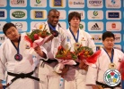 Teddy Riner (FRA), SungMin Kim (KOR), Rafael Silva (BRA), Gu-Ham Cho (KOR) - Grand Slam Paris (2013, FRA) - © IJF Media Team, International Judo Federation
