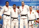 Adam Okruashvili (GEO), Rafael Silva (BRA), Renat Saidov (RUS), Andreas Toelzer (GER) - IJF World Masters Tyumen (2013, RUS) - © IJF Media Team, International Judo Federation