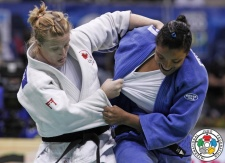 Amy Cotton (CAN), Carmen Chala (ECU) - World Championships Rio de Janeiro (2013, BRA) - © IJF Media Team, International Judo Federation