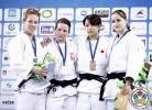Arleta Podolak (POL), Catherine Beauchemin-Pinard (CAN), Fabienne Kocher (SUI), Christa Deguchi (CAN) - World Championships Juniors Ljubljana (2013, SLO) - © IJF Media Team, International Judo Federation