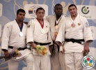 Hyoga Ota (JPN), Harun Sadikovic (BIH), Messie Katanga (FRA), Ruslan Shakhbazov (RUS) - World U18 Championships Miami (2013, USA) - © IJF Media Team, International Judo Federation