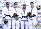 Kengo Takaichi (JPN), Dzmitry Shershan (BLR), Nijat Shikhalizada (AZE), Georgii Zantaraia (UKR) - Grand Prix Budapest (2014, HUN) - © IJF Media Team, International Judo Federation