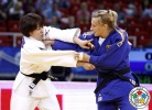Miku Tashiro (JPN), Martyna Trajdos (GER) - Grand Prix Budapest (2014, HUN) - © IJF Media Team, International Judo Federation