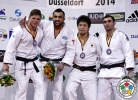 Ilias Iliadis (GRE), Noël Van 't End (NED), Zviad Gogotchuri (GEO), Daiki Nishiyama (JPN) - Grand Prix Düsseldorf (2014, GER) - © IJF Media Team, International Judo Federation