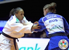 Assmaa Niang (MAR), Irina Gazieva (RUS) - Grand Prix Jeju (2014, KOR) - © IJF Media Team, International Judo Federation