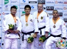 Tuvshinbayar Naidan (MGL), Gu-Ham Cho (KOR), Toma Nikiforov (BEL), Dimitri Peters (GER) - Grand Prix Jeju (2014, KOR) - © IJF Media Team, International Judo Federation