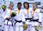 Audrey Tcheumeo (FRA), Luise Malzahn (GER), Kayla Harrison (USA), Mi-Young Choi (KOR) - Grand Prix Jeju (2014, KOR) - © IJF Media Team, International Judo Federation