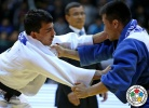 Rishod Sobirov (UZB), Altansukh Dovdon (MGL) - Grand Prix Tashkent (2014, UZB) - © IJF Media Team, International Judo Federation