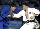 Batgerel Battsetseg (MGL), Yeldos Zhumakanov (KAZ) - Grand Prix Tbilisi (2014, GEO) - © IJF Media Team, International Judo Federation