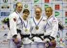 Tina Trstenjak (SLO), Mia Hermansson (SWE), Maelle Di Cintio (FRA), Gemma Howell (GBR) - Grand Prix Zagreb (2014, CRO) - © IJF Media Team, International Judo Federation
