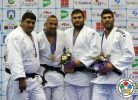Roy Meyer (NED), Mohammed Tayeb (ALG), Or Sasson (ISR), Vladut Simionescu (ROU) - Grand Prix Zagreb (2014, CRO) - © IJF Media Team, International Judo Federation