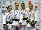 Monica Ungureanu (ROU), Julia Figueroa (ESP), Taciana Cesar (GBS), Charline Van Snick (BEL) - Grand Prix Zagreb (2014, CRO) - © IJF Media Team, International Judo Federation