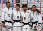 Ivan Nifontov (RUS), Antoine Valois-Fortier (CAN), Sergiu Toma (UAE), Aliaksandr Stsiashenka (BLR) - Grand Slam Abu Dhabi (2014, UAE) - © IJF Media Team, International Judo Federation